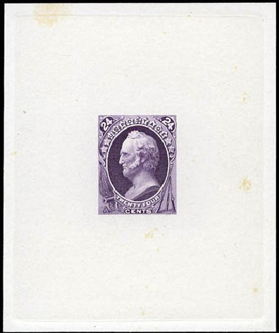 Values of US Stamp Scott Cat. #164: 1873 24c Winfield Scott Continental. Matthew Bennett International, Mar 2012, Sale 344, Lot 4381