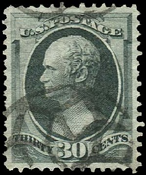 US Stamp Price Scott Catalog # 165 - 1873 30c Hamilton Continental. Regency-Superior, Aug 2015, Sale 112, Lot 327