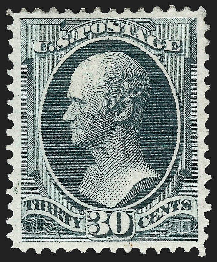 Costs of US Stamp Scott Cat. #165 - 1873 30c Hamilton Continental. Robert Siegel Auction Galleries, Jul 2015, Sale 1107, Lot 279