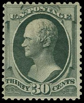 US Stamps Value Scott Cat. 165: 1873 30c Hamilton Continental. H.R. Harmer, Jun 2015, Sale 3007, Lot 3221