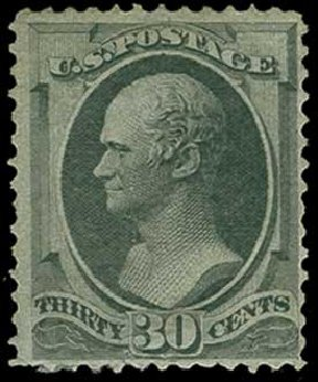 Cost of US Stamp Scott Catalog #165: 30c 1873 Hamilton Continental. H.R. Harmer, Jun 2015, Sale 3007, Lot 3224