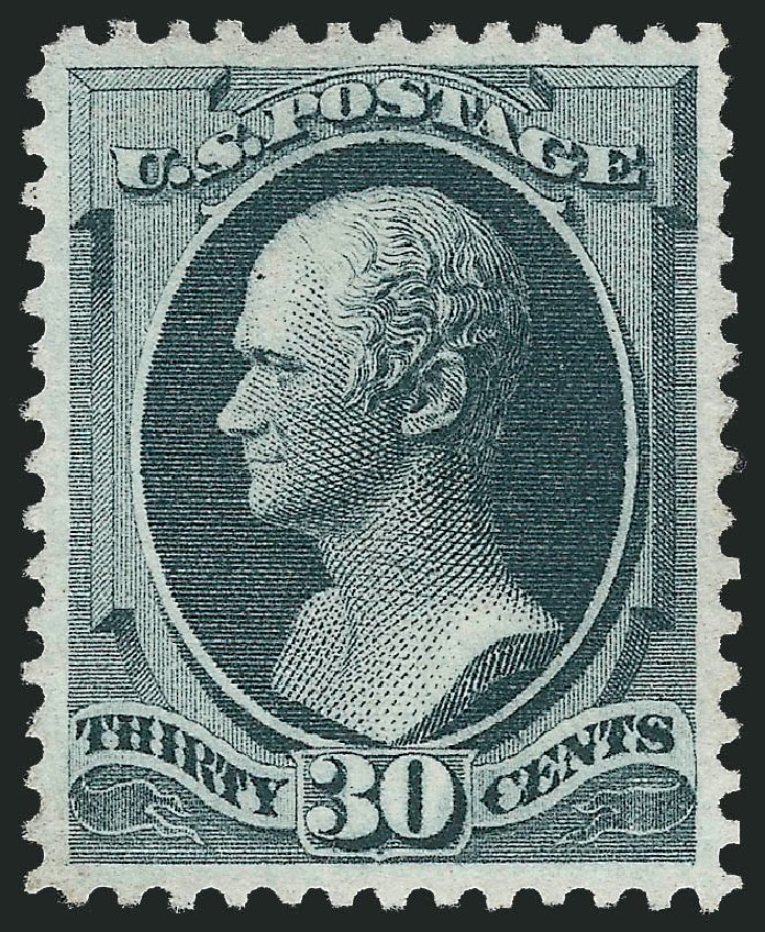 US Stamps Values Scott Catalogue 165 - 1873 30c Hamilton Continental. Robert Siegel Auction Galleries, Jun 2015, Sale 1100, Lot 35