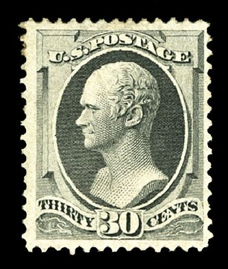 US Stamp Price Scott Cat. # 165 - 1873 30c Hamilton Continental. Cherrystone Auctions, Jul 2015, Sale 201507, Lot 2072