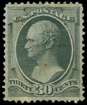 Prices of US Stamp Scott Catalogue # 165 - 1873 30c Hamilton Continental. H.R. Harmer, Jun 2015, Sale 3007, Lot 3222