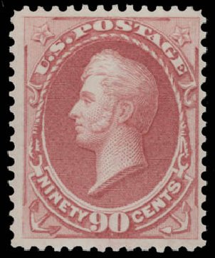 Cost of US Stamps Scott Catalogue #166: 90c 1873 Perry Continental. Daniel Kelleher Auctions, Aug 2015, Sale 672, Lot 2437