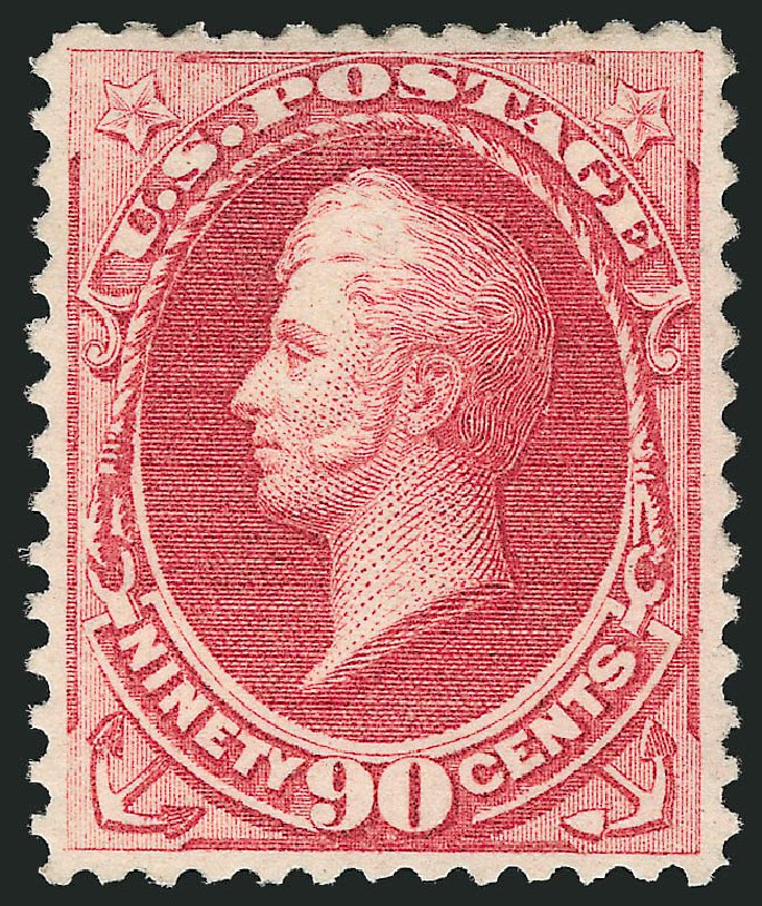 Prices of US Stamps Scott Catalog # 166 - 1873 90c Perry Continental. Robert Siegel Auction Galleries, Apr 2015, Sale 1096, Lot 307