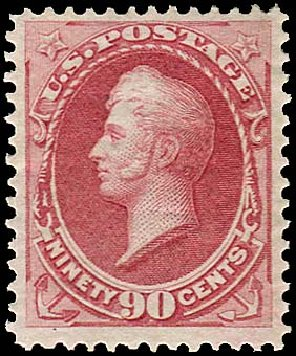 US Stamps Price Scott Catalog 166: 1873 90c Perry Continental. Regency-Superior, Aug 2015, Sale 112, Lot 328