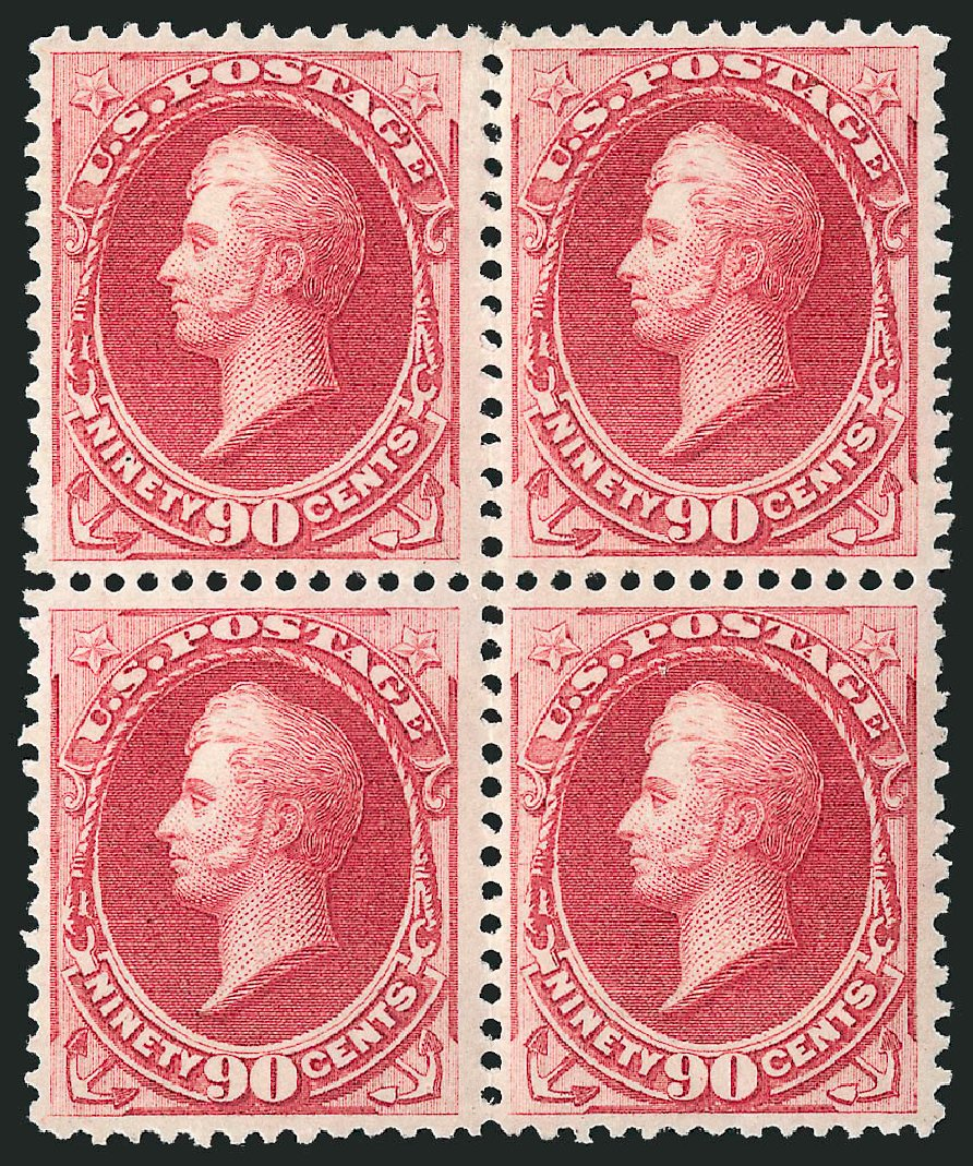 US Stamps Price Scott Cat. 166: 90c 1873 Perry Continental. Robert Siegel Auction Galleries, Apr 2015, Sale 1096, Lot 308