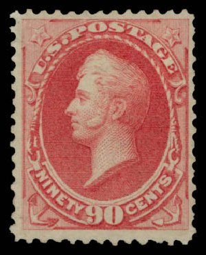 Price of US Stamps Scott Catalog 166 - 90c 1873 Perry Continental. Daniel Kelleher Auctions, May 2015, Sale 669, Lot 2659