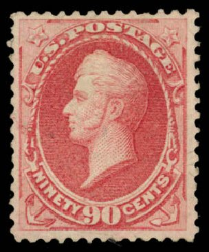 Costs of US Stamp Scott Cat. 166: 1873 90c Perry Continental. Daniel Kelleher Auctions, Aug 2015, Sale 672, Lot 2439