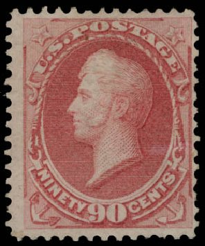 US Stamp Price Scott 166: 1873 90c Perry Continental. Daniel Kelleher Auctions, May 2015, Sale 669, Lot 2660