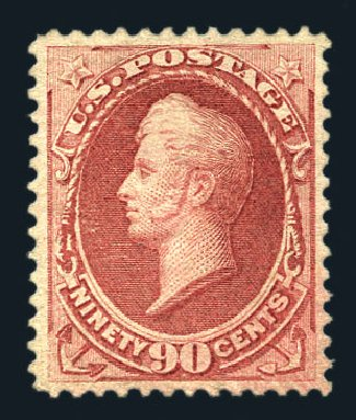 Costs of US Stamp Scott 166 - 90c 1873 Perry Continental. Harmer-Schau Auction Galleries, Aug 2015, Sale 106, Lot 1521