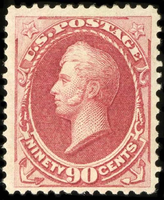 US Stamp Prices Scott Catalogue #166 - 1873 90c Perry Continental. Spink Shreves Galleries, Jul 2015, Sale 151, Lot 154