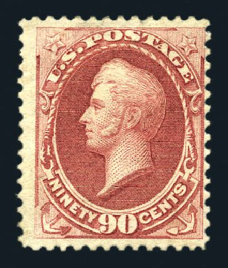 US Stamp Values Scott Catalogue #166 - 1873 90c Perry Continental. Harmer-Schau Auction Galleries, Aug 2015, Sale 106, Lot 1522