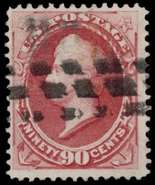 Costs of US Stamp Scott # 166 - 1873 90c Perry Continental. Daniel Kelleher Auctions, May 2015, Sale 669, Lot 2662