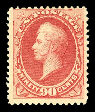 Prices of US Stamp Scott Catalog # 166: 1873 90c Perry Continental. Cherrystone Auctions, Jul 2015, Sale 201507, Lot 2073