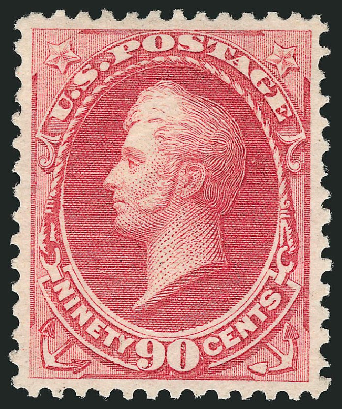 Price of US Stamp Scott # 166 - 90c 1873 Perry Continental. Robert Siegel Auction Galleries, Jun 2015, Sale 1100, Lot 36