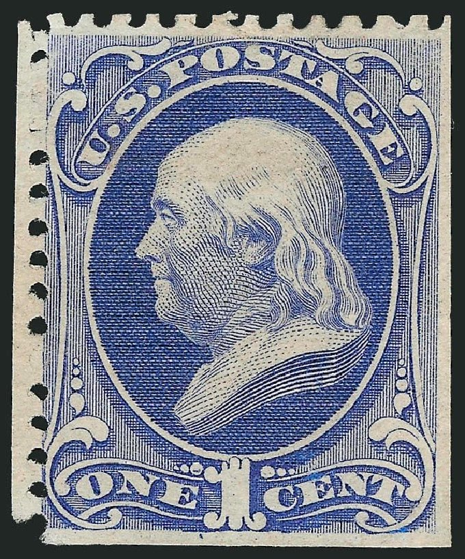 Price of US Stamp Scott Cat. #167: 1c 1875 Franklin Special Printing. Robert Siegel Auction Galleries, Sep 2014, Sale 1078, Lot 308