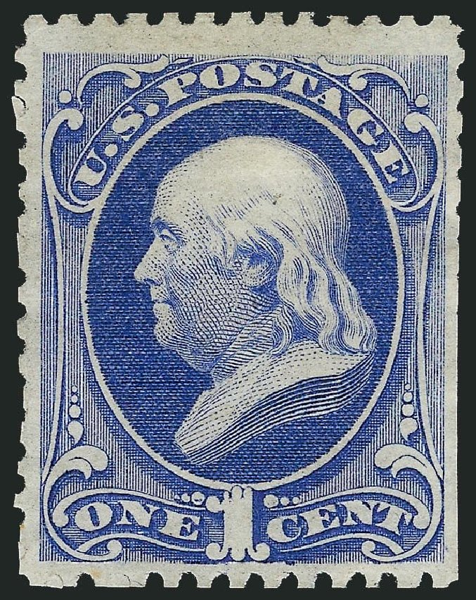 US Stamp Prices Scott Catalogue # 167: 1c 1875 Franklin Special Printing. Robert Siegel Auction Galleries, Nov 2013, Sale 1057, Lot 750