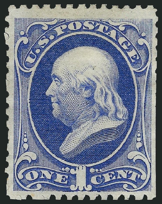 US Stamp Values Scott Catalog 167 - 1875 1c Franklin Special Printing. Robert Siegel Auction Galleries, Nov 2014, Sale 1084, Lot 3441