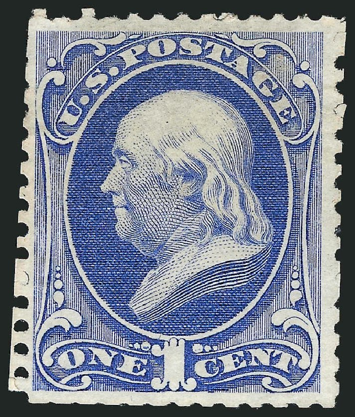 US Stamp Value Scott 167: 1c 1875 Franklin Special Printing. Robert Siegel Auction Galleries, Dec 2012, Sale 1036, Lot 114