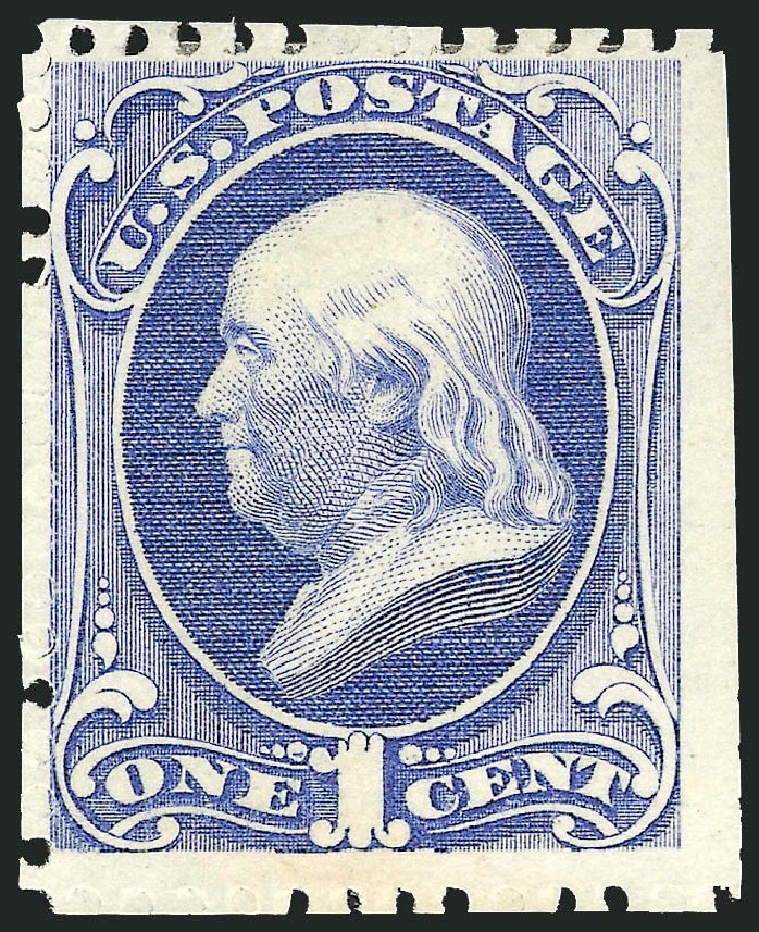 Prices of US Stamp Scott Cat. 167: 1875 1c Franklin Special Printing. Robert Siegel Auction Galleries, Oct 2010, Sale 997, Lot 5584