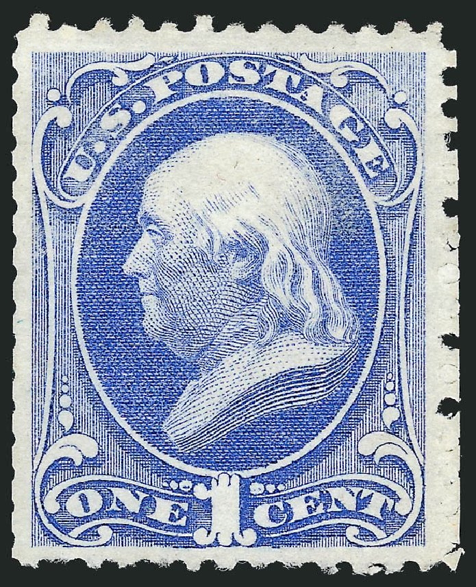 Value of US Stamps Scott Cat. # 167 - 1c 1875 Franklin Special Printing. Robert Siegel Auction Galleries, Feb 2015, Sale 1092, Lot 1132