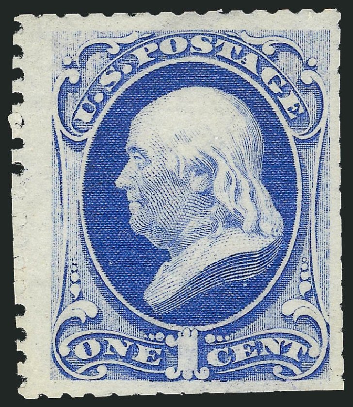 Price of US Stamp Scott Cat. #167 - 1c 1875 Franklin Special Printing. Robert Siegel Auction Galleries, Apr 2015, Sale 1096, Lot 312
