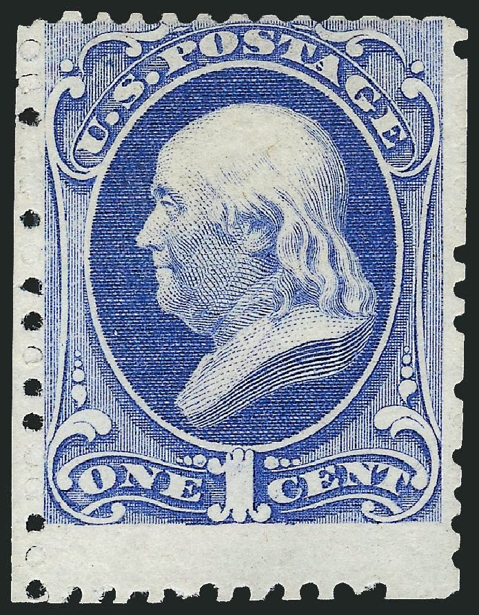 Cost of US Stamps Scott Catalog 167 - 1875 1c Franklin Special Printing. Robert Siegel Auction Galleries, Dec 2009, Sale 982, Lot 5473