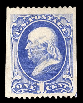 US Stamps Values Scott Catalogue 167: 1875 1c Franklin Special Printing. Cherrystone Auctions, Jun 2011, Sale 201106, Lot 46