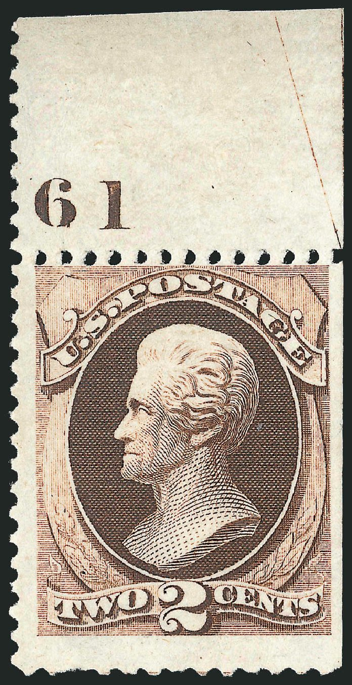 Cost of US Stamp Scott Cat. # 168 - 1875 2c Jackson Special Printing. Robert Siegel Auction Galleries, Oct 2012, Sale 1033, Lot 4097