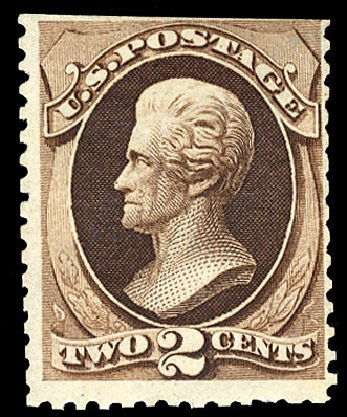 Prices of US Stamp Scott Catalog # 168: 2c 1875 Jackson Special Printing. Cherrystone Auctions, Jun 2009, Sale 200906, Lot 84