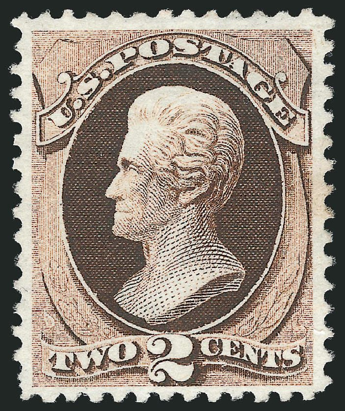 Values of US Stamps Scott Catalogue 168: 2c 1875 Jackson Special Printing. Robert Siegel Auction Galleries, Dec 2012, Sale 1036, Lot 115