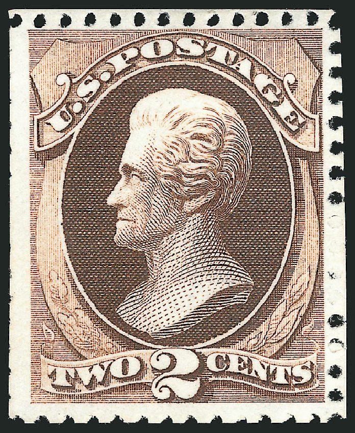 Prices of US Stamps Scott Catalogue # 168: 2c 1875 Jackson Special Printing. Robert Siegel Auction Galleries, Feb 2015, Sale 1092, Lot 1133