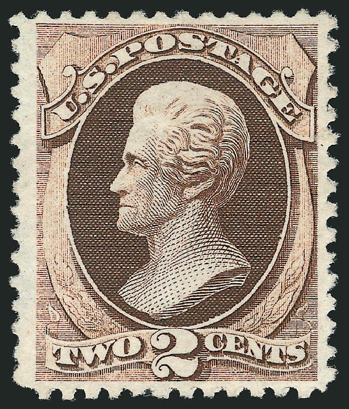 Cost of US Stamps Scott Catalog #168: 2c 1875 Jackson Special Printing. Robert Siegel Auction Galleries, Apr 2015, Sale 1096, Lot 313