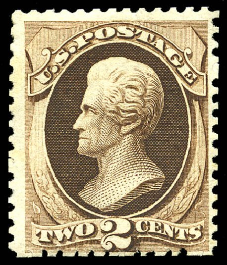 US Stamps Prices Scott Catalogue # 168: 1875 2c Jackson Special Printing. Matthew Bennett International, Sep 2012, Sale 345, Lot 206