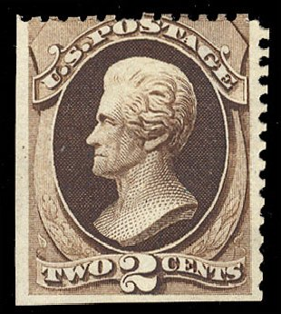 Cost of US Stamps Scott Catalogue # 168: 1875 2c Jackson Special Printing. Cherrystone Auctions, Jul 2010, Sale 201007, Lot 26