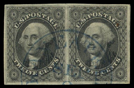 Costs of US Stamp Scott Catalog # 17: 1851 12c Washington. Daniel Kelleher Auctions, Aug 2015, Sale 672, Lot 2161