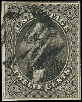 Costs of US Stamps Scott Cat. 17: 1851 12c Washington. Regency-Superior, Aug 2015, Sale 112, Lot 84