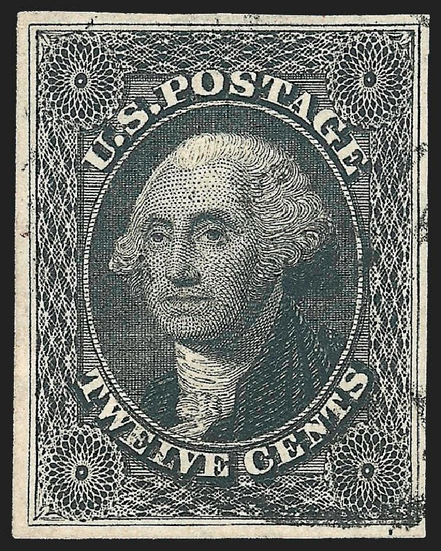 US Stamps Value Scott 17 - 1851 12c Washington. Robert Siegel Auction Galleries, Jul 2015, Sale 1107, Lot 75
