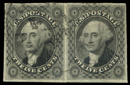 Prices of US Stamps Scott Cat. #17: 1851 12c Washington. Daniel Kelleher Auctions, Aug 2015, Sale 672, Lot 2162