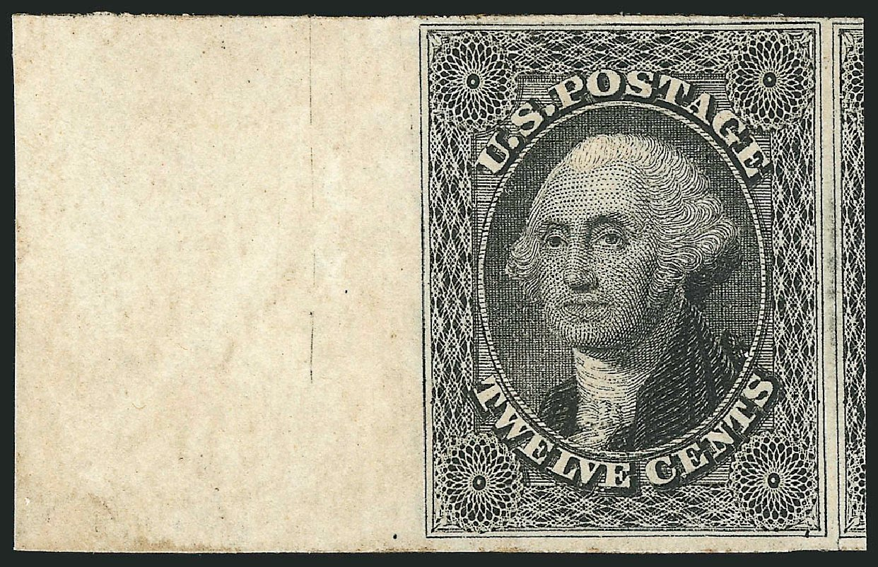 US Stamps Value Scott Catalog # 17: 1851 12c Washington. Robert Siegel Auction Galleries, Jun 2015, Sale 1106, Lot 3032