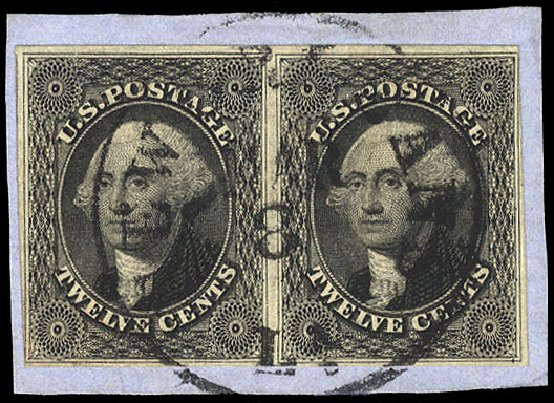 Prices of US Stamp Scott Catalogue 17 - 1851 12c Washington. Cherrystone Auctions, Jul 2015, Sale 201507, Lot 16