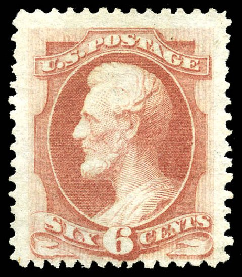 Values of US Stamps Scott Catalogue # 170 - 1875 6c Lincoln Special Printing. Matthew Bennett International, May 2014, Sale 350, Lot 287