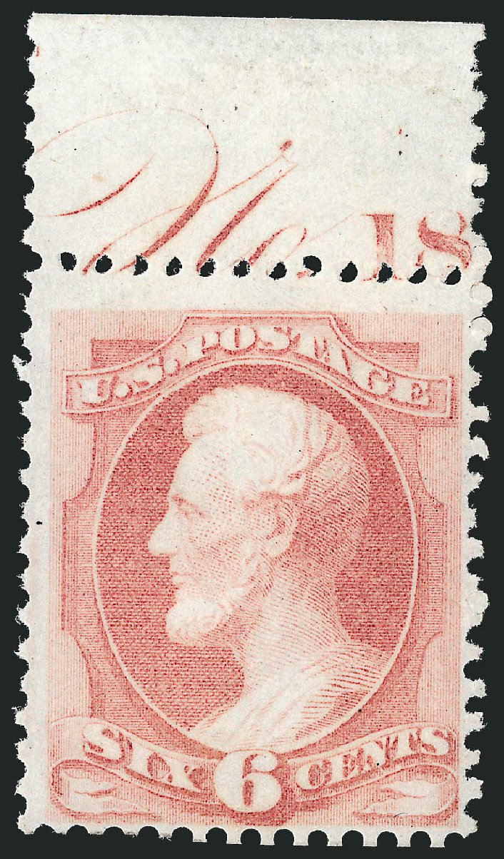 US Stamps Value Scott Cat. # 170: 6c 1875 Lincoln Special Printing. Robert Siegel Auction Galleries, Oct 2012, Sale 1033, Lot 4099