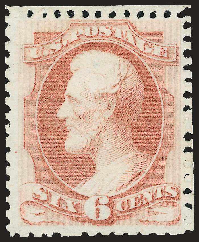 Cost of US Stamps Scott Catalogue # 170: 1875 6c Lincoln Special Printing. Robert Siegel Auction Galleries, Apr 2009, Sale 972, Lot 3171
