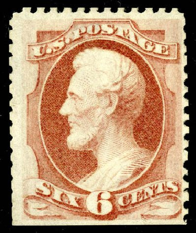US Stamp Value Scott Catalog #170: 6c 1875 Lincoln Special Printing. Matthew Bennett International, May 2008, Sale 327, Lot 174