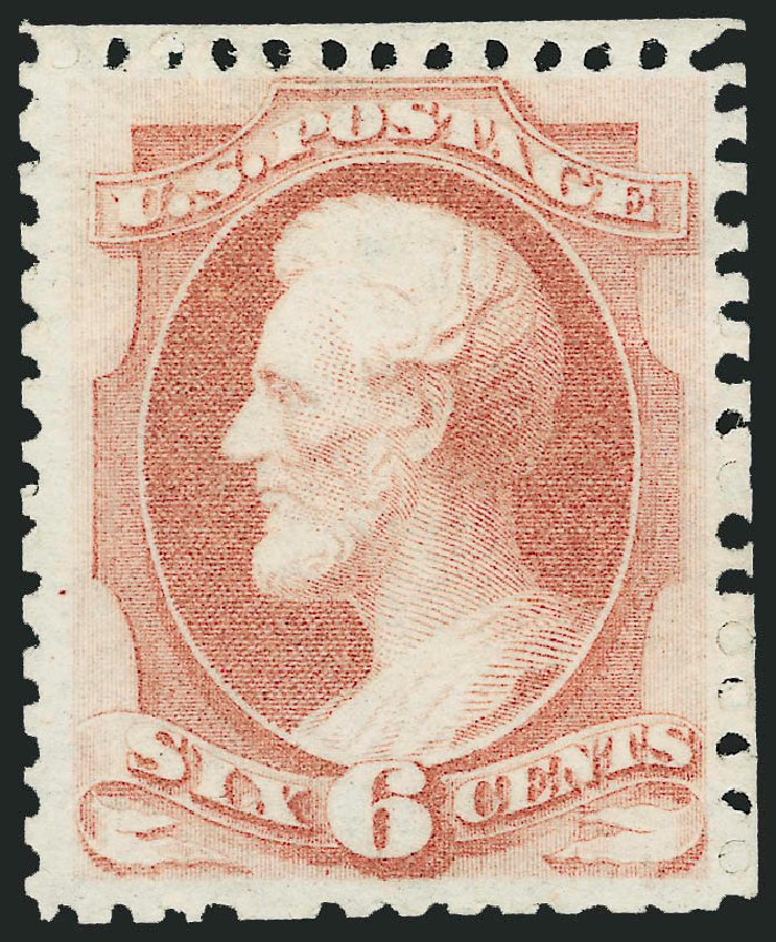 US Stamps Prices Scott 170: 6c 1875 Lincoln Special Printing. Robert Siegel Auction Galleries, Oct 2010, Sale 997, Lot 5585