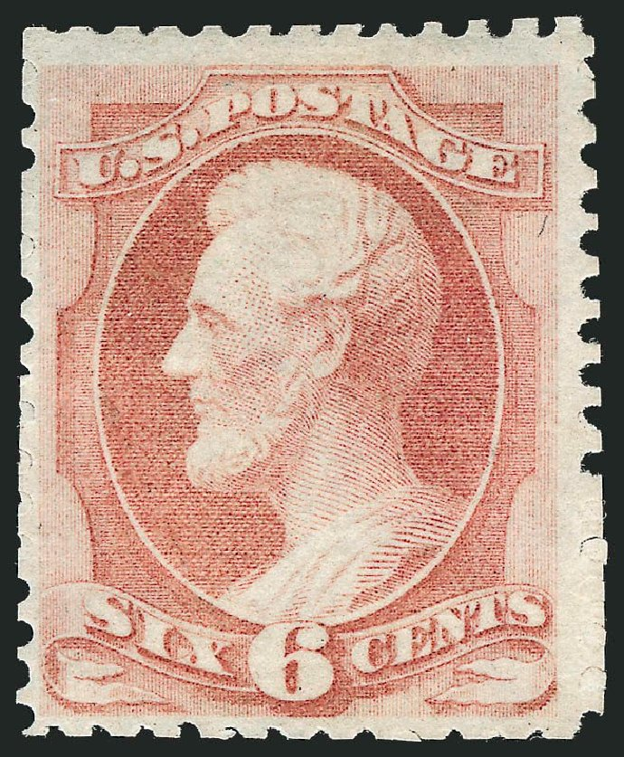 US Stamp Values Scott Cat. # 170 - 6c 1875 Lincoln Special Printing. Robert Siegel Auction Galleries, Nov 2013, Sale 1057, Lot 753