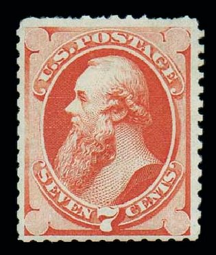 Price of US Stamp Scott Catalog 171: 7c 1875 Stanton Special Printing. Matthew Bennett International, Jun 2007, Sale 319, Lot 1197